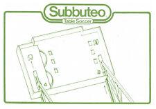 Subbuteo C158 Stadium Scoreboard Assembling Instructions Football Accessories