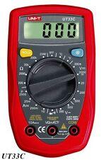 Uni-t ut33c digital Multimeter AC DC Ohm temperatura capacidad batería incl.