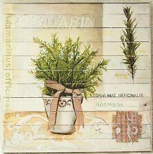 "Pro Art ""Sweet Herbs"" Rosmarin Kräuter Küchen Landhaus Bild Kunstdruck 27x27"