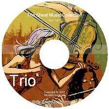 Massive Professional Trio Sheet Music Collection Archive Library on DVD