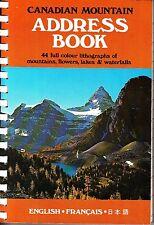 Canadian Mountain Address Book Mountains Flowers Lakes Waterfalls 1977