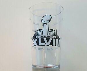 NFL Super Bowl XLVIII 48 NY NJ Pint Glass with 4 Coasters