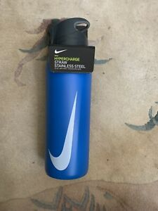 New Nike 32 OZ Stainless Steel SS Hypercharge Straw Bottle Insulated White Water