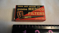 Vintage Genuine Medico Pipe Filters in Original Box 6 of 10 Filters  - 1950's