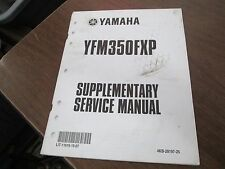 2002 Yamaha YFM350 YFM350FXP Wolverine Factory Supplementary Service Manual
