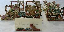 One Table Place Card Holder Bird And FLoral