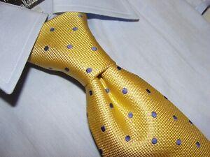 NEW CHARLES TYRWHITT Emmanuel Gold  Men's Dot tie 100% Silk