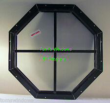 "Shed Octagon Window 18"" Brown Flush Playhouse window Chicken Coop Tree House"