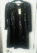 Women's Michael Kors Black Sequin Party Dress, NWT!!, Size Small , QF18424IE9