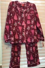 Target BRAND Flannel 2 PC Pajamas Cherry Pink Sz L Large Xmas Holiday Cotton 8db954acd