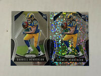 DARRELL HENDERSON LOT OF 2 2019 Prizm DISCO PRIZM SP RC + BASE RC #330! RAMS!