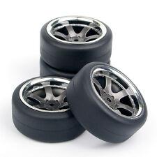 4Pcs RC Flat Drift Tire Rims For HSP Racing HPI 1:10 On-Road Car PP0038+PP0338