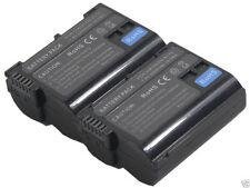 new 2PCS Battery and Dual Charger EN-EL15 for D600 D610 D7000 D7100 D7200 ENEL15
