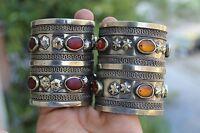 Afghan Vintage Banjara Antique tradition Kuchi Old Pair gypsy Handcufs Bracelets