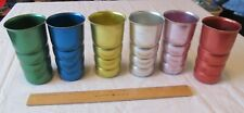 6 KROMEX Vintage Retro Aluminum Ribbed Metal drinking Cup Collectable