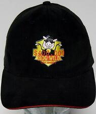 Vtg 1990s HOG WILD $400,000 GIVEAWAY Pig Motorcycle Advertising BIKER HAT CAP