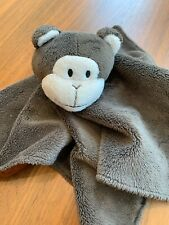 Tales Of Glory Brown Monkey Security Blanket Lovey Satin Baby