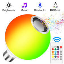 E27 12W Wireless Bluetooth LED Light Speaker Bulb RGB Music Playing Lamp +Remote