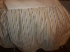 Ralph Lauren Lauren Queen Cream Purple Stripe Bed Skirt Nwot