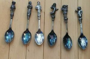 6 Reed And Barton Christmas 1980-1985 Plated Spoons
