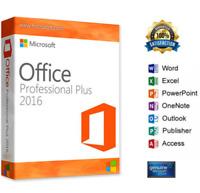 MICROSOFT Office 2016 Professional Plus - 32/64 Bit - Licenza originale ESD