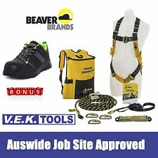 BEAVER Roofers Full Body Safety Roofing Harness Kit-BONUS PITCH SAFETY BOOT SHOE