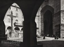 1927 Vintage FRANCE Villefranche-de-Rouergue Notre Dame Cross Photo By HURLIMANN