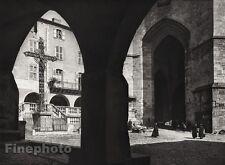 1927 Vintage FRANCE Villefranche-de-Rouergue Notre Dame Cross Photo By HURLIMANN