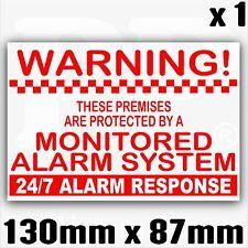 1 x locali sistema allarme monitorato sticker-external Sicurezza Segnale Avviso 130 mm