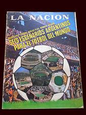 FIFA WORLD CUP 1978 RARE Original La Nacion mag 6 worldcup Stadiums Argentina