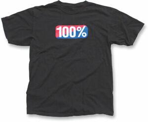 100% MX Motocross OLD SCHOOL T-Shirt (Black) Choose Size
