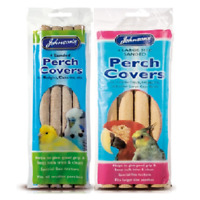 PERCH COVERS 4 PACK johnsons sanded perches grip bp bird budgie cockatiel parrot