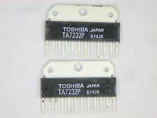 "TA7232P  ""Original"" Toshiba  12P SIP IC  2 pcs"