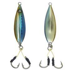 20 pcs Fall Flat OEM Keel Jig - 200gr Blue Sardine with 6/0 Double Assist Hooks
