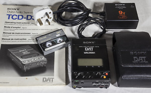 Sony DAT TCD-D3 tape recorder with charger,case,tape and manual, working order