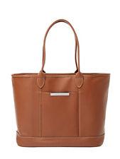 NWT Longchamp Veau Le Foulonne Leather Shoulder Tote COGNAC BROWN $535 AUTHENTIC