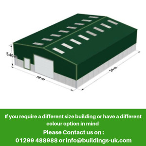 Agricultural Steel Frame Kit Building - GRAIN STORE - 80ft x 60ft x 18ft