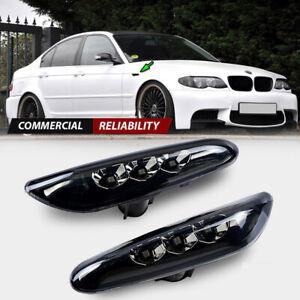 Smoke LED Side Marker Turn Signal Lights Lamp For BMW E90 E83 E92 E82 E46 E60