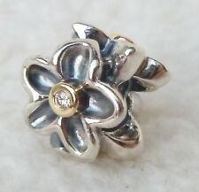 PANDORA Charm SANDDORN Nr. 790541D Silber 925 Gold 585 Diamanten NEU & ORIGINAL