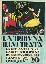 LOCANDINA LA TRIBUNA ILLUSTRATA ANNI 20/30,PUBBLICITA' VINTAGE,TODDI
