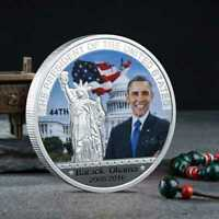 SILVER PLATED MONEDA   ESTADOS UNIDOS  OBAMA ENCAPSULADA