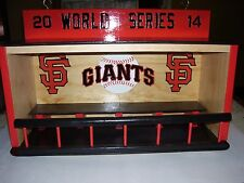 SF Giants display case for bobbleheads  Dugout style  world series 2014
