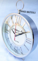"table clock aluminum desk clock 6"" beautiful design heavy quality shelf clock"