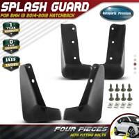 4PCS Splash Guards Mud Flaps Mudguards for BMW i3 2014-2020 Hatchback Front Rear
