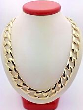 """Men's Solid 10K Yellow Gold 22"""" BIG Cuban Link Chain Necklace 44-47 grams 13mm"""