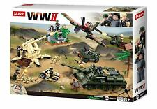 New Sluban Kids Army Building Blocks WWII Series Battle Of Kursk Building Toy
