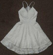 WOMENS JUNIORS small EMERALD SUNDAE WHITE GLITTER DRESS WEDDING HONEYMOON BRIDE