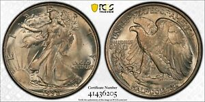 1938 WALKING LIBERTY HALF PCGS MS 65 GORGEOUS SANDY SATIN MINT BLOOM TOUGH DATE