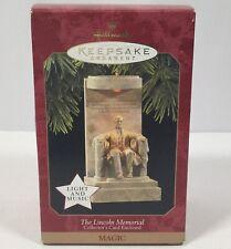 1997 Hallmark Keepsake Christmas Ornament Music & Light Lincoln Memorial Works!