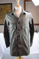 Vintage DUTCH MILITARY Holland Army OD GREEN FIELD Coat JACKET Medium? M